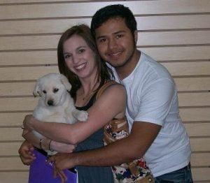 Ashley, Oscar & Leela on Adoption Day