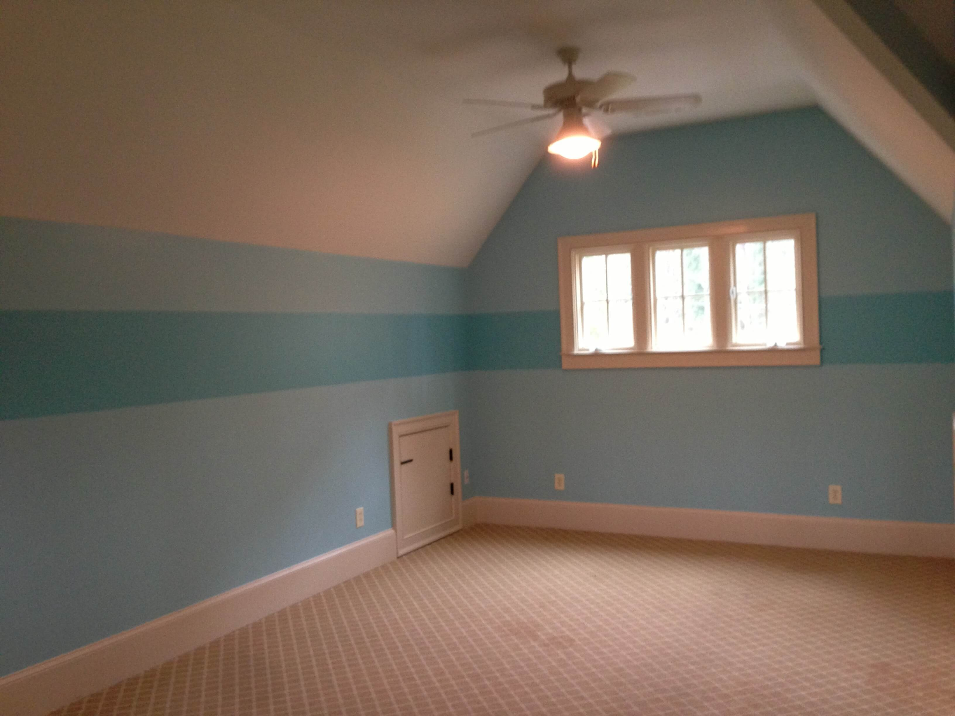 Bedroom Blue Stripe. Painting Stripes on Your Walls