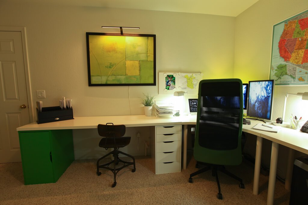 Choosing the right paint color for your office - Colors home office can enhance productivity ...