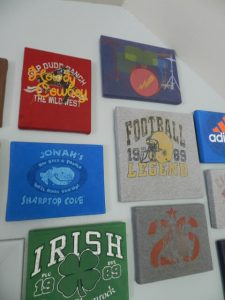 T-shirt canvases are a great way to show your team spirit in your man cave.
