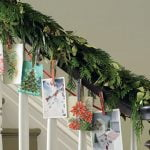 Use a clothes line to hang holiday cards from your banister.