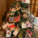 Display Holiday Cards in your Christmas tree.
