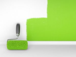 There are lots of options to paint homes in an environmentally friendly way.