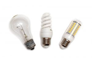 Different types of light bulb can change the appearance of the paint on your walls.