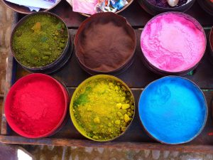 Some painters like to create their own chalk finish paints by using powdered pigments.