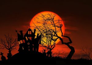 Orange and black are traditional Halloween colors.