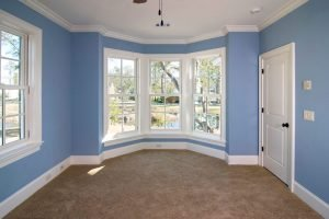 White trim helps colored walls pop.