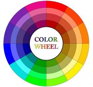 Choose colors on opposites of the color wheel for a complimentary look.