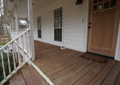 Front Porch Floor -- BEFORE